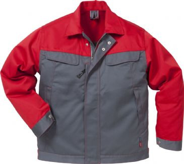 Fristads Icon Jacket 4857 Luxe 109321 (Grey/Red)